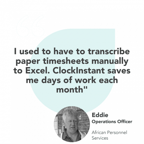 I used to have to transcribe paper timesheets manually to Excel. ClockInstant saves me days of work each month. This image was uploaded by ClockInstant at 11 Imam Haron Rd Claremont, Cape Town, 7708.