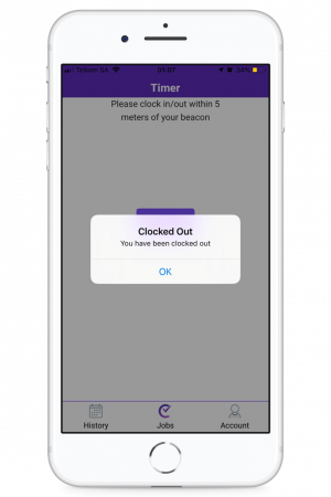 ClockInstant App clocking in and out
